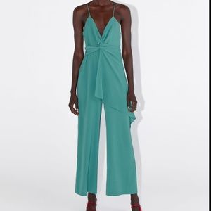 ZARA strappy jumpsuit with knot! RARE